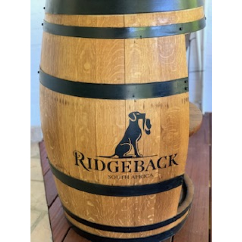 Ridgeback Branded Barrel with Shelving